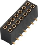 la température de Heade Roperation de femelle de 2.54mm : -40&ordm ; C à +105&ordm ; Connecteurs de C
