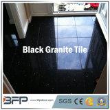 Granito nero naturale per le mattonelle di pavimento, pietra per lastricati, scala, davanzale della finestra, controsoffitto