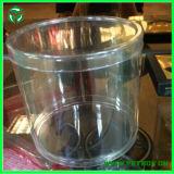 Пробка коробки пластичного цилиндра ясности любимчика прозрачного упаковывая