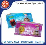 Wipe macio Certificated do bebê recém-nascido molhado orgânico dos Wipes do bebê