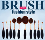 10 PCS del cepillo de dientes Oval cepillo cosméticos Nuevo cepillo del maquillaje