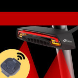 Meilan X5 지능적인 자전거 후방 램프 무선 먼 도는 브레이크 제어 신호 USB 재충전용 Laser Bycicle 빛