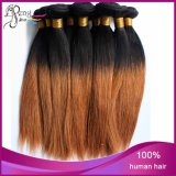 1b/27# 2tone 100%년 Virgin Remy Human Hair Weaves Bundle Stright