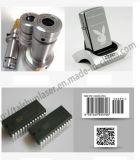 código del hardware 10W/serie etiqueta de plástico del texto del número/del laser de la fibra de las muestras