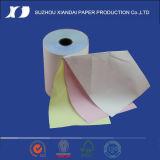 Rodillo del papel sin carbono del rodillo 3-Ply del papel de la posición de la caja registradora del rodillo 3-Ply del papel de caja registradora de la NCR del rodillo 3-Ply del papel de la NCR 3-Ply del rodillo 76m m del papel de la NCR de la alta calidad