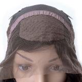 Peruca baixa de seda brasileira da parte dianteira do laço