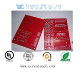 Красная плата с печатным монтажом PCB Fr4 с высоким качеством