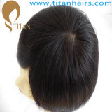 100%年のHandtiedの人間の毛髪のかつら中国製