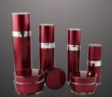 Botella privada de aire de la loción del tarro poner crema de acrílico rojo de Set7 PP para el empaquetado del cosmético (PPC-CPS-019)