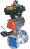 Valvola a sfera di galleggiamento di controllo pneumatico con il posizionatore