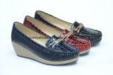ウェッジデザインの模造された女性方法靴