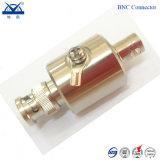 Tipo prendedor do alimentador F N TNC SL16 da antena de relâmpago do conetor