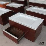 Moderne einzelne Wannen-feste Oberflächenbadezimmer-Schrank-Eitelkeit (B1706053)