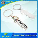 Anello chiave nichelato in lega di zinco personalizzato professionista con il marchio dell'azienda (XF-KC11)