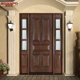 Antique Arts Crafts 1d + 2SL porta de casa em madeira de madeira (GSP1-032)