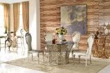 Conjunto de los muebles de los vectores y de las sillas de cena de los diseños modernos