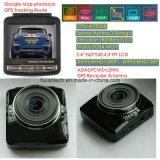 """GPSの追跡のルートGPS Coodinateの制限速度のブラックボックスが、FHD 1080P車DVRのHDMI車の駐車制御DVR-2415思い出す熱い販売2.4 """"車のダッシュGPS車は来た"""