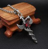 Vintage Sword Necklace Pendant Accesorios de moda de acero inoxidable 316L