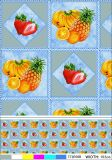 Fruit Design PVC PVC Material Printed Transparent Tablecloth Made in China