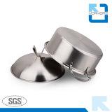 POT unico della minestra dell'acciaio inossidabile di figura e POT delle azione con il coperchio degli ss