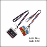 Cinghia chiave della sagola del collo stampata capretti svegli con i supporti di distintivo di nome da vendere