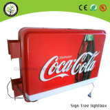 Outdoor Round Beer Display Acrylic LED Publicidade Light Box