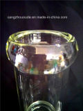 Pipe de fumage en verre de couleur verte de Borosilicate