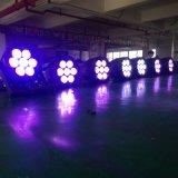 Luz da PARIDADE do diodo emissor de luz da alta qualidade 7X10W RGBA 4in1 para ao ar livre
