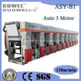 Tres motor de la máquina de impresión de huecograbado de 8 colores 130m / min