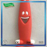漫画の微笑の表面は歯ブラシをからかう