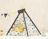 Soft Pet Tent Outdoor Wooden Teepee Lavável Durable Dobrável Pequeno Dog e Cat Tent Dog Bed