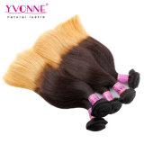 I capelli Ombre di Remy hanno colorato il tessuto peruviano dei capelli di due toni