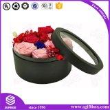 Rectángulo de papel redondo de empaquetado de la flor del cilindro de encargo de Cmyk