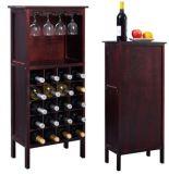 Prateleira do frasco de vinho do gabinete da barra da prateleira do gancho do suporte da cremalheira do vidro de vinho