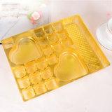 gouden plastic beschikbare de chocolade van het blaardienblad verpakking (pp die verpakken)