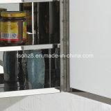 ステンレス鋼2のドアの台所浴室の収納キャビネットの食器棚5つの層の無光沢ガラス7048