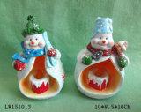 Sostenedor de vela para la decoración casera de Navidad
