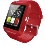 スマートな腕時計U8の人間の特徴をもつ方法健康の適性の腕時計のスリープモニタのBluetoothのスマートな身につけられる装置
