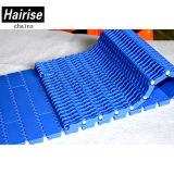 Flache doppelter Zeilenabstand-Begrenzungs-modulares Plastikförderband mit ISO