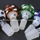 Tazón de fuente de cristal que fuma coloreado del diseño creativo para el tubo de agua de cristal