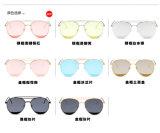 2017 lunettes de soleil transparentes de mer de mode bleue de type