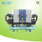 Doppio refrigeratore di acqua a vite del compressore
