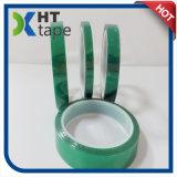Adesivo termoresistente rivestito del silicone del poliestere del nastro verde dell'animale domestico