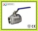 Шариковый клапан фабрики Pn63 2PC продетый нитку нержавеющей сталью DIN Китая