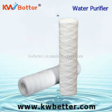 Cartuccia di ceramica del filtro da acqua di alta qualità con la ferita della stringa dei pp