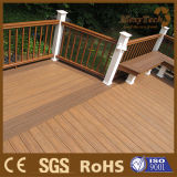 WPC Fissure-Résistent au plancher extérieur composé d'étages de la coextrusion WPC