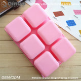 Molde rosado de alto rendimiento de la hornada del silicón de Sqaure para la galleta y el chocolate