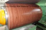 Bobina de acero cubierta color impresa modelo grabada madera PPGI