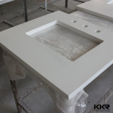 Countertop кварца ледника ванной комнаты белый