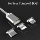 3 magnéticos novos em 1 cabo do USB para o micro Tipo-c plugue do iPhone de telefone móvel